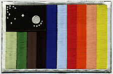 Space: 1999  IRC Embroidered Rainbow Flag Iron-on Patch