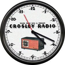 Crosley Tube Radio Dealer Service Sales Sign Wall Clock