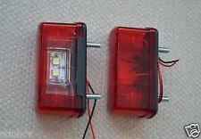 2 pezzi 4 LED SMD Luci Anteriori Posteriori Targa Fari Rimorchio Furgone Camion