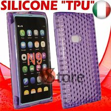 Cover Custodia Per Nokia N9 Viola Gel Silicone TPU Case Diamond Purple