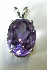 Natural earth-mined amethyst in a solid sterling silver pendant ...3.5 Carat Gem
