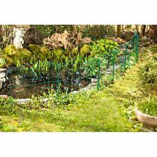 Teich Zaun Schutzzaun 4,2 Meter einfaches Stecksystem Fische Teichzaun grün