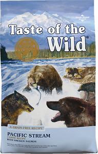 Taste of the Wild Pacific Stream Grain-Free Dry Dog Food 28lb - FreeShipping NEW