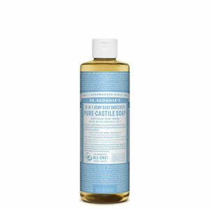 Dr Bronners Pure Castile Soap Liquid (Hemp 18-in-1) Baby Unscented 473ml