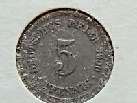 1900-A Germany Five (5) Pfennig Coin