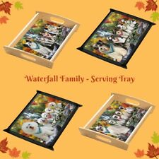 Scenic Waterfall Food Serving Tray, Dogs, Cats, Pet Photo Lovers Gift Kitchen