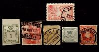 SPAIN 6 INTERESTING OLD STAMPS, TWO  IMPERFORATE 06010220