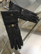 ORIGINAL MATCHLESS LEATHER BRIDGE GLOVES LADY LEDER HANDSCHUHE SCHWARZ NP 189,-