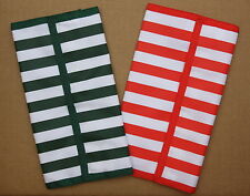 One Green & One Red Stripe Hannah Hansen Coupon Organizer Lot of 2
