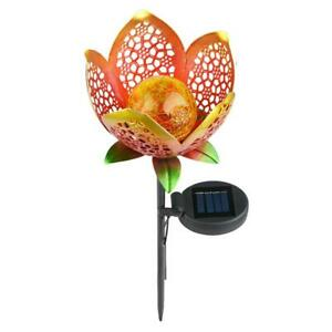 4-Pack Solar Flowers-Solar Garden Lights-Solar Stake Walkway Patio Lighting