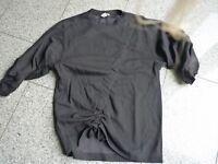 Sweatshirt Longshirt mit Raffungen von H&M in schwarz Gr. 34
