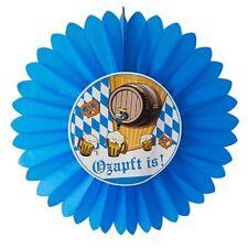 Dekofächer Ø 60 cm Dekoration Oktoberfest Ozapft is! blau Wiesn Feier Party Fest
