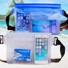 Underwater Waterproof Waist Bag Cover 3 Zippers Transparent PVC Adjustable Strap