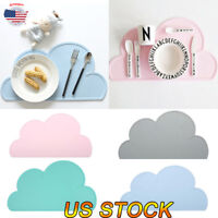 Silicone Insulation Pad Kids Baby Dining Table Kitchen Cloud Placemats Place Mat
