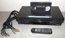 Nice!! JVC #HR-S3901U S-VHS SUPER VCR VHS Player Hi-Fi (w/ REMOTE, CABLES)