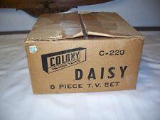 Colony Glass  Daisy  8 Piece Snack Set Original Box!