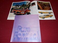 1971 PONTIAC GTO FIREBIRD GRAND PRIX LEMANS CATALINA  24 p. BROCHURE 71 CATALOG
