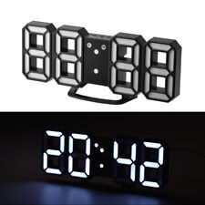 USB 3D Modern Wanduhr Digital LED Wall Clock 24/12Hour Timer Display AlarmHS1001