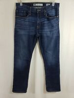 Buckle BKE Jake Straight Leg Mens Denim Blue Jeans Size 34 x 33 Dark Wash Zipper