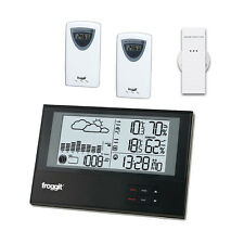 Funk  Wetterstation WS800 Triple mit 3 Funksensoren SlimLine Barometer