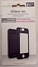 NEW OPEN Moshi iVisor AG Anti Glare Screen Protector for iPhone 4 / 4S - Black