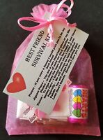 Best Friend Survival Kit KEEPSAKE Fun Novelty Gift Birthday Christmas Friends