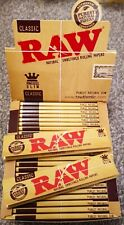 More details for 10 / 20 rizla silver / blue / natura raw king size slim / regular rolling papers