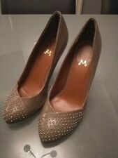Women's Miss KG High Heel Shoes UK 3 EU 36 Brown Beige Worn Once