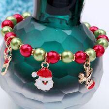 Christmas-Charm-Gift-Girl-Accessories-Claus-Santa-Women-Jewelry-Bracelet Xmas
