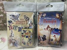 More details for 4 disney vintage movie poster pins dumbo, bambi, lady and tramp, the aristocats