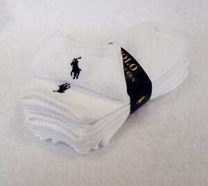 POLO RALPH LAUREN Women's Socks 6 Pairs White Size 9-11 Cotton Blend - New