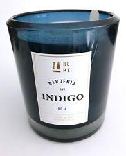 Luxus Duftkerze im blauem Glas, DW home, Gardenia & Indigo