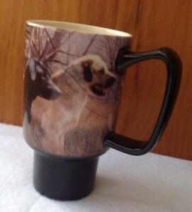 Lang Coffee Mug / Autumn Hunting Dogs - No Lid / Black & Golden Lab Dogs