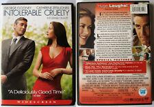 INTOLERABLE CRUELTY COEN BROTHERS UNIVERSAL REGION 1 NTSC DVD