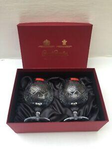 ROYAL BRIERLEY CRYSTAL BERKELEY PAIR OF BALLOON BRANDY GLASSES ORIGINAL BOX