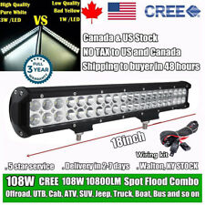 18 inch CREE LED Work Light Bar Combo Beam Offroad SUV 4X4 Driving Truck Jeep 17