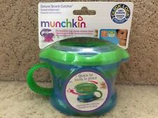 Munchkin Deluxe Snack Catcher Snack Dispensers Click Lock 12+ Month Blue Green