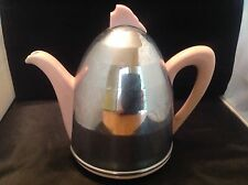 Antique Art Deco Insulated Pink Teapot Coffee Pot - England