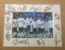 An 8 x 6 inch mount with photo signed by 13 of the Bolton Wanderers 2016/17 (5).
