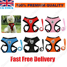 More details for quality small dog cat puppy harness+lead pet mesh vest reflective adjustable