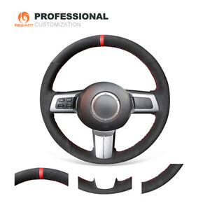 MEWANT Black Suede Car Steering Wheel Cover for Mazda MX-5 2006-2015 RX-8 CX-7