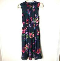 Modcloth Women's Sleeveless Dress Size Small Elastic Waist Lined Bottom Black