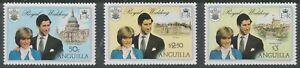 Anguilla 1981#444-46 Royal Wedding - MNH