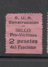 Q608-RARO SELLO C.N.T. VICTIMAS DEL FASCISMO 1936,BARCELONA,S.U.R,ALTO VALOR 2 P