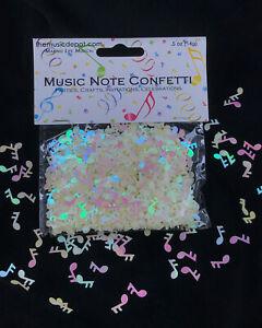 Musical Note Confetti, white/cream color, 6 Bags, Iridescent, Wedding, Crafts