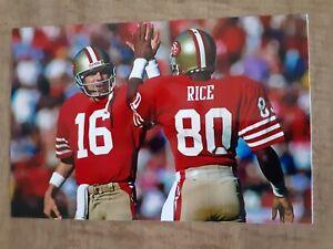 Joe Montana Jerry Rice 49ers 4x6 Game Photo Picture