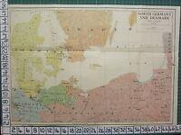 Landkarte/Kampf Plan ~ North Deutschland & Denmark ~ Mecklenburg Hanover