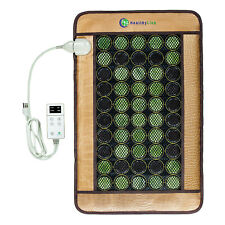 014b Healthy Line USA Natural Jade Tourmaline Negative Ions Infrared Heating Multi Energy Medium Pad 616906633404