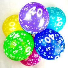 40th palloncini di compleanno con stampata numeri festa Latex qualità -