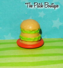 BARBIE EVER AFTER MONSTER HIGH DOLL SIZE PRETEND FOOD HAMBURGER PLATE DIORAMA